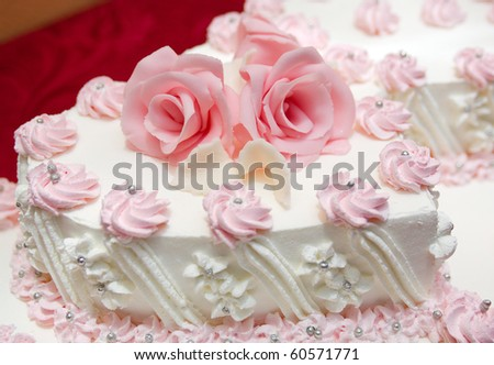 wedding cake .Shallow depth-of-field. - stock photo