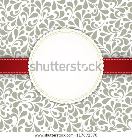 Wedding card or invitation with abstract floral background. Perfect as invitation or announcement. For vector version, see my portfolio. - stock photo