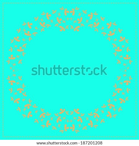 Wedding card or invitation with floral ornament background.  - stock photo