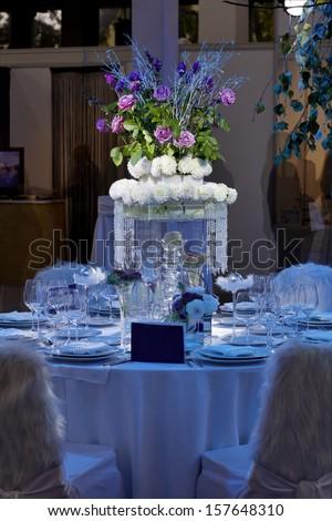 Wedding Centerpiece Table - stock photo