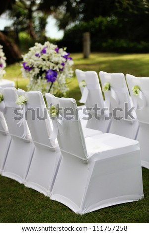 Wedding ceremony area.