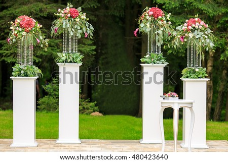 Wedding ceremony. Decoration for background.
