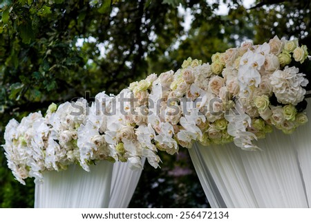 wedding ceremony decorations - stock photo