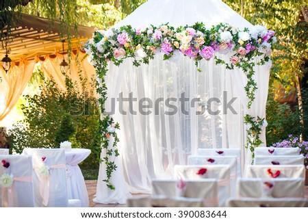 Wedding ceremony decorations stock photo 373335361 shutterstock wedding ceremony decorations junglespirit Gallery