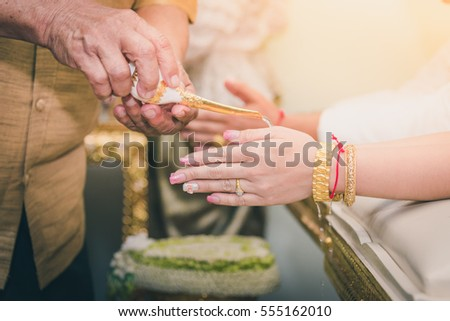 Wedding ceremony in Thailand