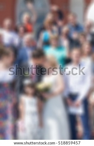 Wedding ceremony theme creative abstract blur background with bokeh effect