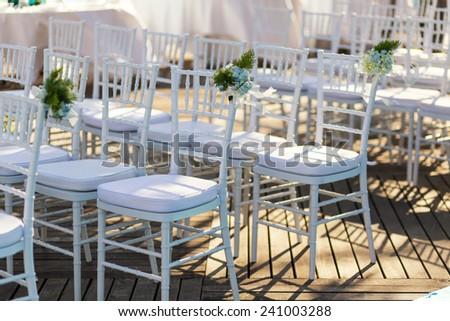 wedding chair - stock photo