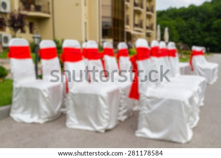 wedding chairs abstract blur background - stock photo