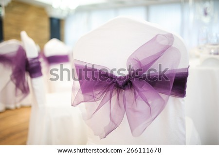 Wedding chairs beautiful decorated with decor agency - stock photo