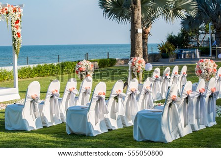 wedding chairs in outdoor wedding ceremony & Wedding Chairs Outdoor Wedding Ceremony Stock Photo (Royalty Free ...