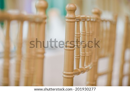 Wedding chairs in row