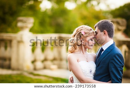 Wedding couple - stock photo