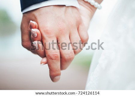 Wedding Couple is Join Hands