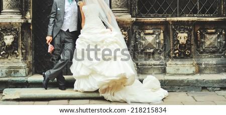 Wedding couple. Marriage. - stock photo