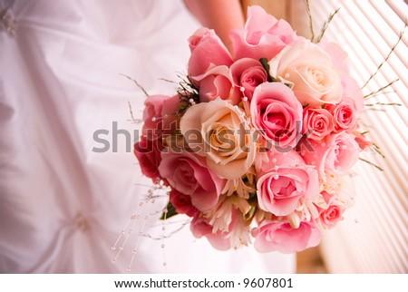 Wedding Day Flowers - stock photo