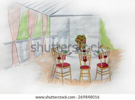 Wedding decoration wedding idea organization decor stock wedding decoration wedding idea organization and decor style design restaurant indoor junglespirit Image collections