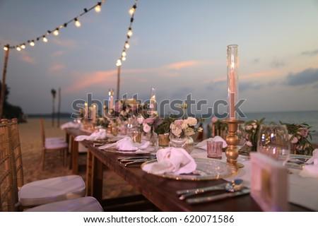 wedding dinner set up event set stock photo 620071586 - shutterstock
