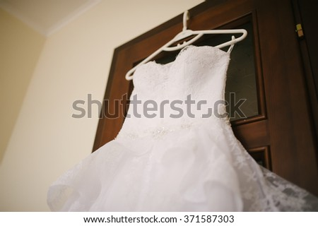 wedding dress is ready for bride's best day