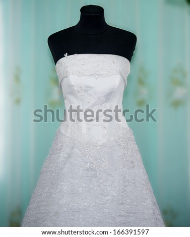 wedding dresses in bridal salon