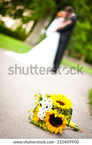 wedding flowe - stock photo