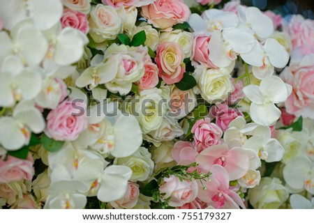 wedding flower decoration  / flower backdrop background