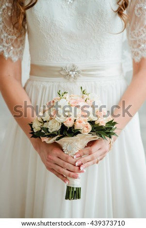 wedding flowers in hands