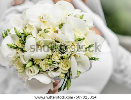 Wedding flowers. Orchid. Rose flower.