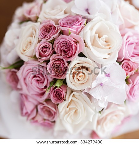 Wedding flowers. Shallow depth of field. - stock photo