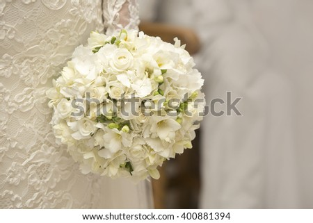 Wedding flowers. White freesias