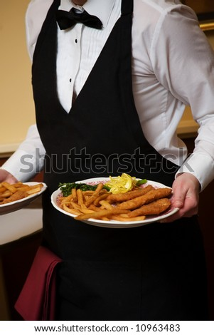 Wedding food during a catered social event