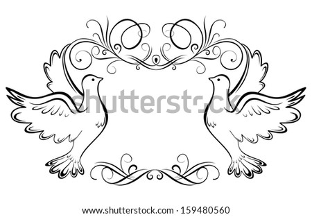 Wedding frame. Raster copy - stock photo