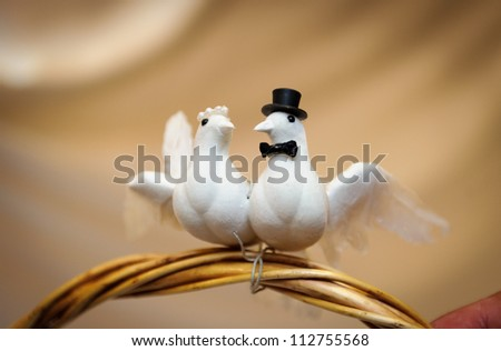 Wedding gift basket - stock photo