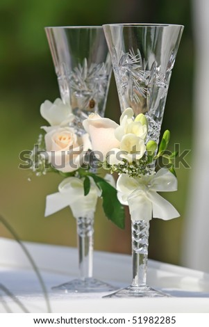wedding glasses - stock photo