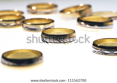 Wedding gold Rings - stock photo
