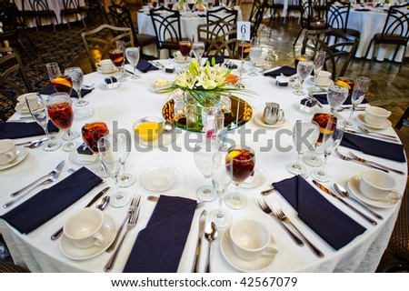 Wedding guest table - stock photo
