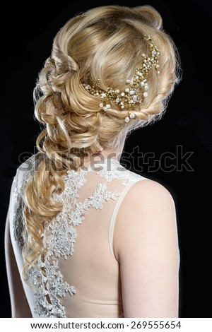 Wedding hairstyle - stock photo