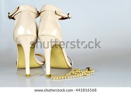 Wedding high heels  - stock photo