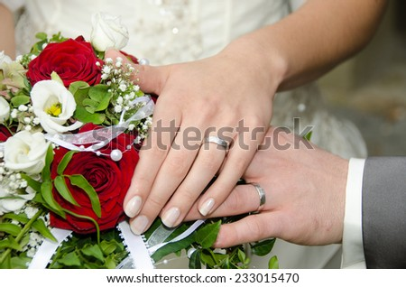 Wedding - holding hands