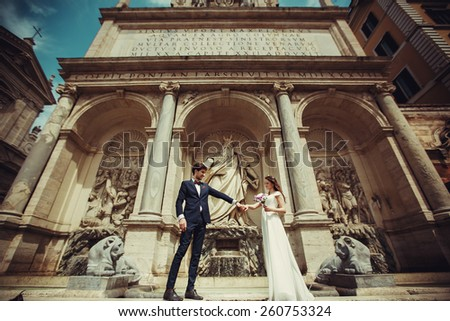 wedding in Rome, Italy - stock photo