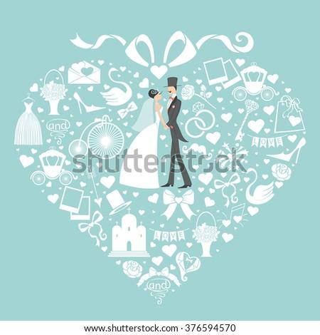 Wedding Design Templatefloral Frame Hearts Label Vector – Wedding Invitation Cards Designs Templates