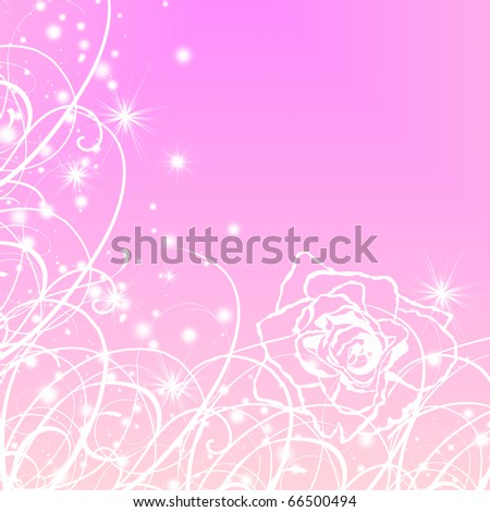 wedding invitation with floral patterns or greeting card