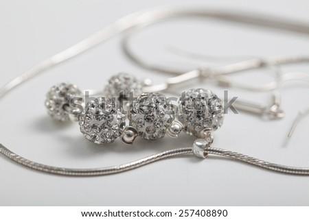 Wedding jewelery bride decoration - stock photo