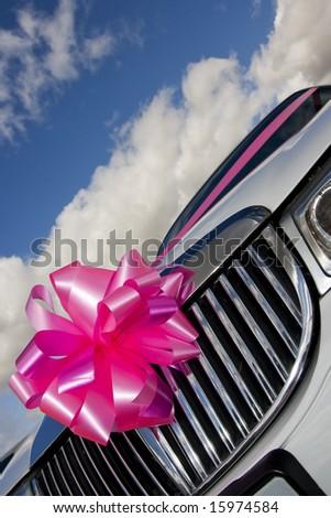 wedding limo detail - stock photo