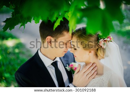 Wedding, love, kiss - stock photo