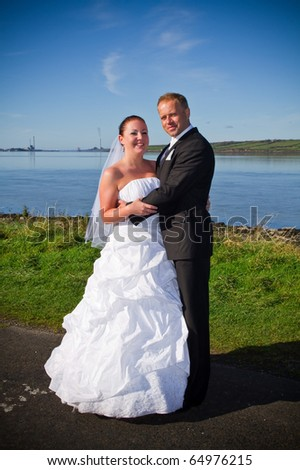 Wedding photo session in irish scenery