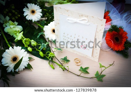Wedding planning day - date of a wedding circled on a calendar - stock photo