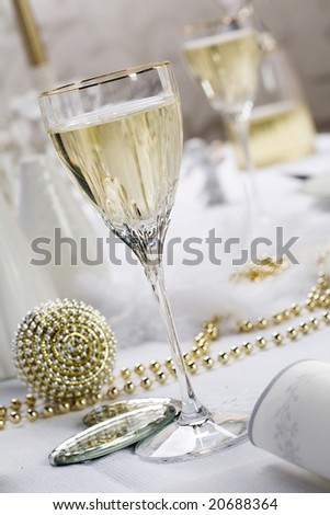 wedding reception table - stock photo