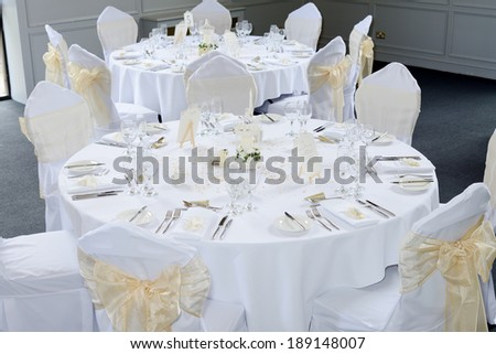 Wedding reception table with ornate decorations