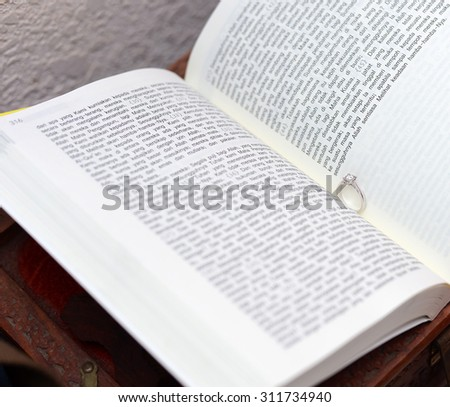 Wedding Ring and Book