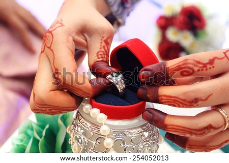 wedding ring and gift box